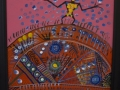 Dancing on the Red Earth 16 x 20 Framed Acrylic on Canvas - Syliboy Website Photo