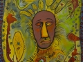 Mask Dreaming of Snakes 24 x 36 Unframed Acrylic on Canvas Syliboy Website Photo
