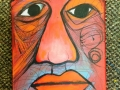 "Red Ochre Man # 1 9"" x 12"" Acrylic on Canvas.JPG"