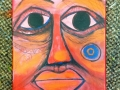 "Red Ochre Man # 2 9"" x 12"" Acrylic on Canvas.JPG"